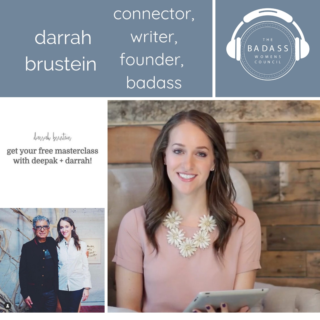 Darrah Brustein host of Masterclass with Deepak Chopra