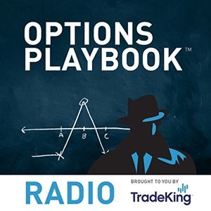 Artwork for Options Playbook Radio 46: Paper Trade for ABX Earnings