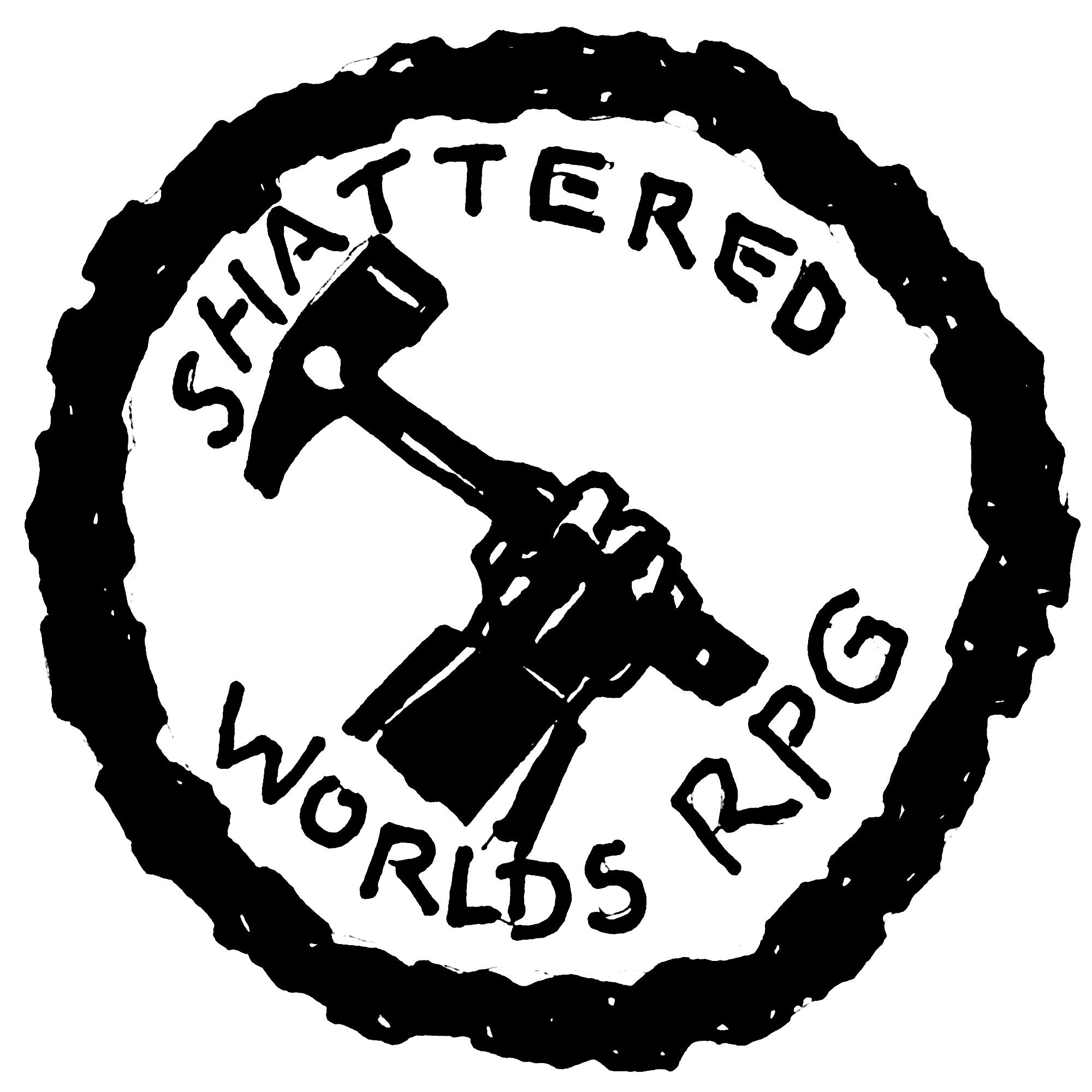 Shattered Worlds RPG show art