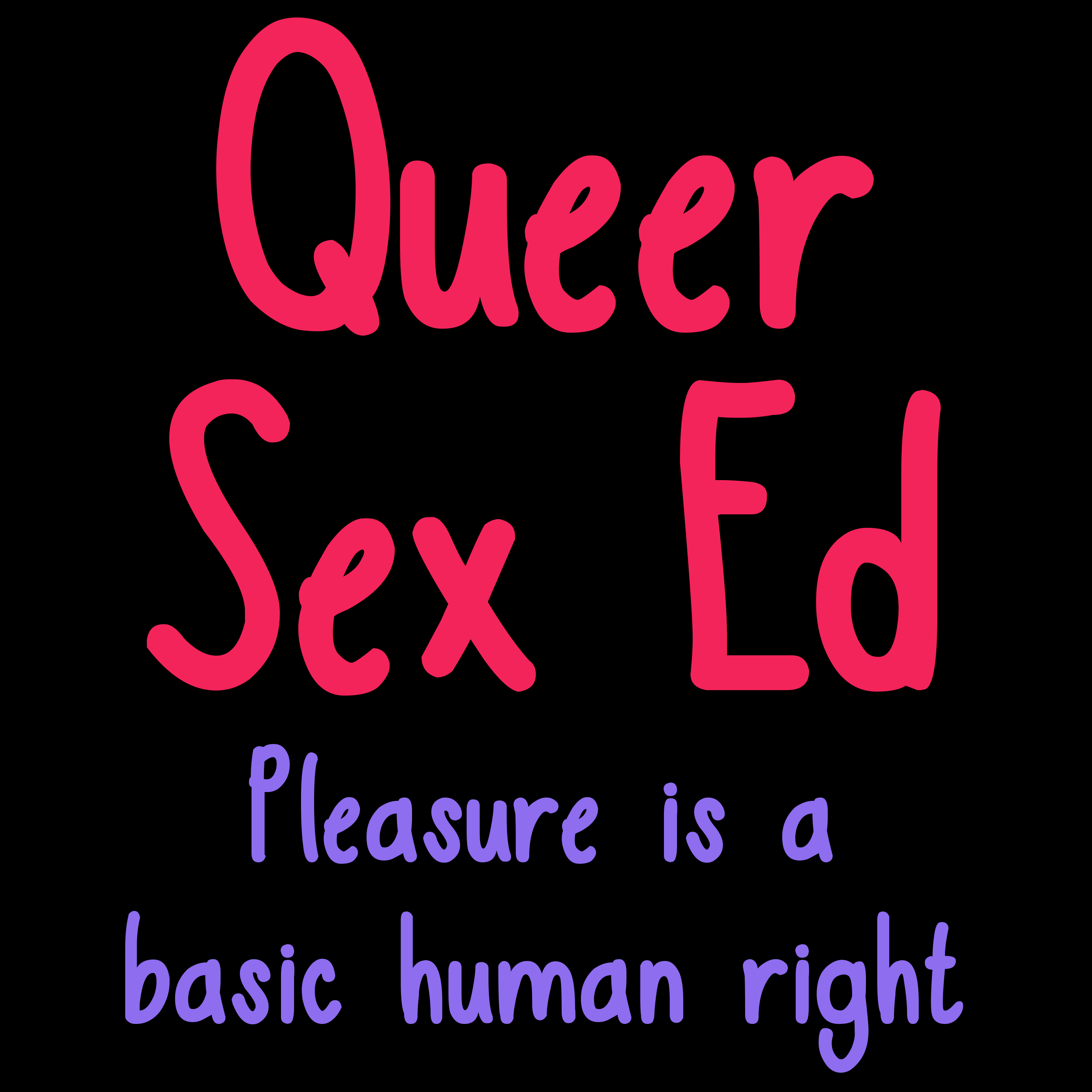 Queer Sex Ed Podcast show art