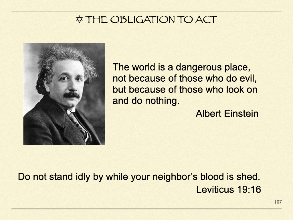 The Obligation To Act