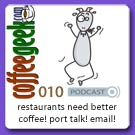 CG Podcast 010 - Restaurant Coffee, Port talk, and Emails