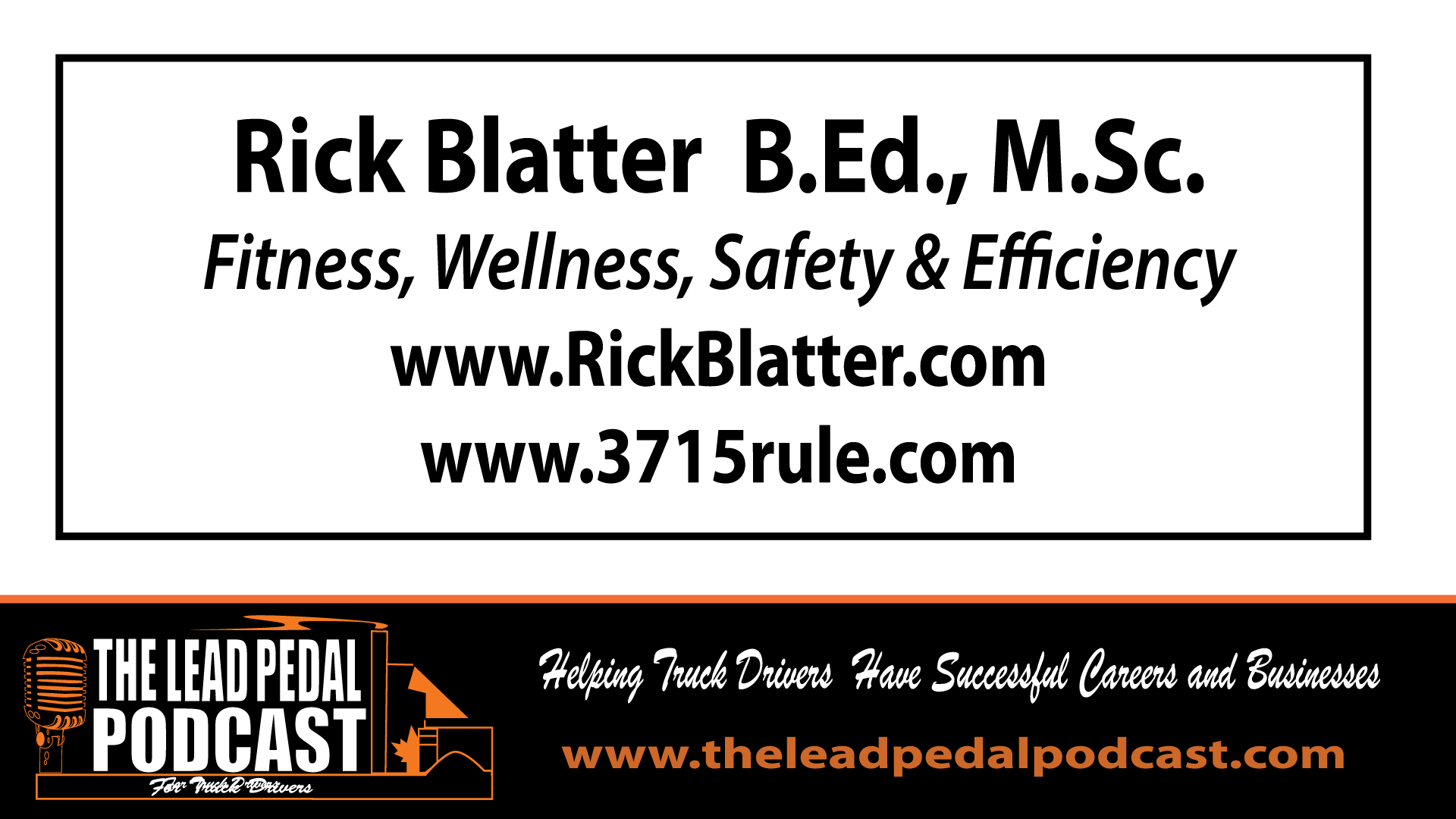 Rick Blatter on Safety