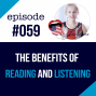 Artwork for #059 The Benefits of listening and reading in English