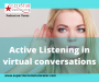 Artwork for Active listening in virtual conversations