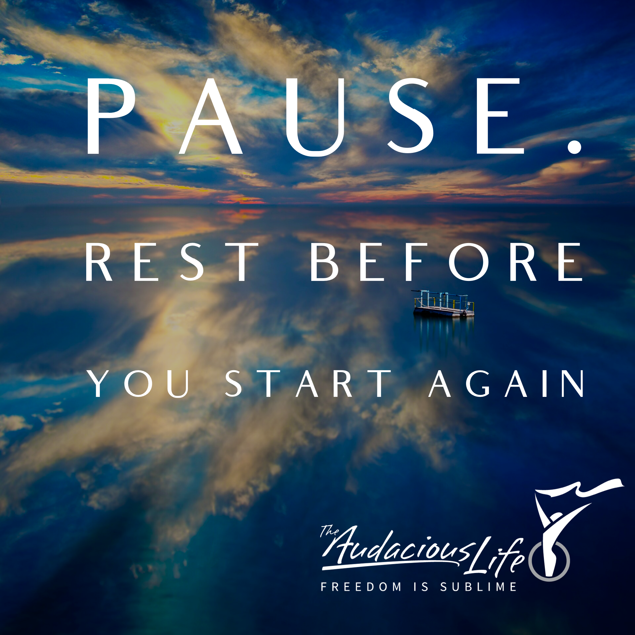 Season 4 - Pause. Rest Before You Start Again