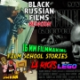 Artwork for King Slivan #18 - Black Russian Films Reunion with 16mm filmmaking, Papa Smurf and LA Riots Lego style!