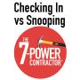 Artwork for Checking In vs Snooping