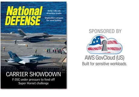 Artwork for March 2017- Carrier Showdown: F-35C under pressure to fend off Super Hornet challenge