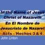 Artwork for Acts - Hechos 3 & 4 In the Name of Jesus Christ of Nazareth - En El Nombre de Jesucristo de Nazaret