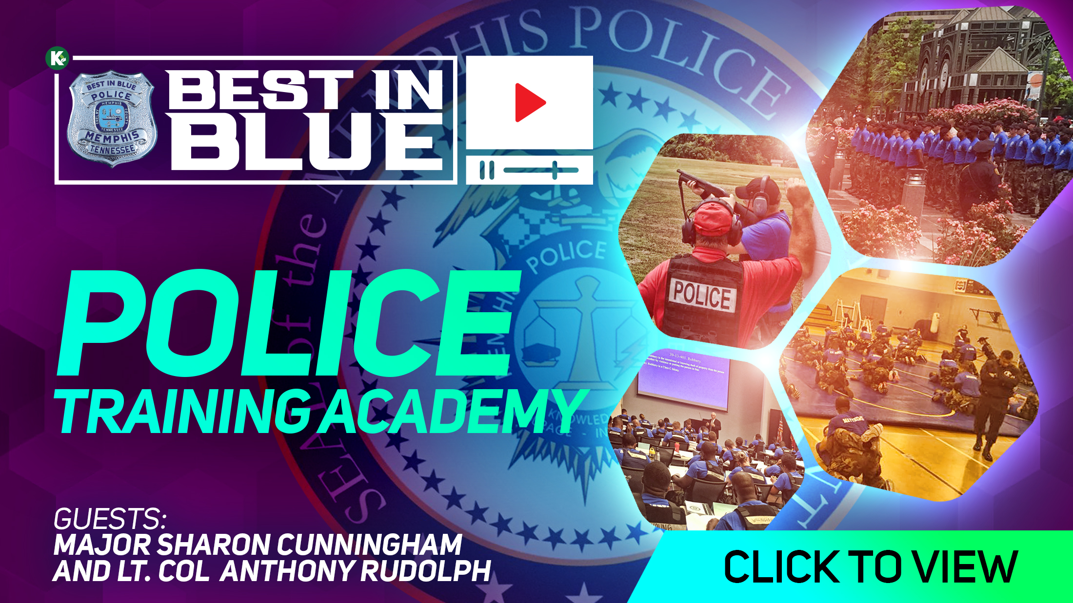 Artwork for [ VIDEO ] Police Training Academy w/ Lt. Col Anthony Rudolph and Maj Sharon Cunningham |  BEST In BLUE PODCAST | KUDZUKIAN