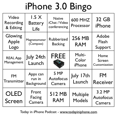 iPhone 09 - Bingo Card