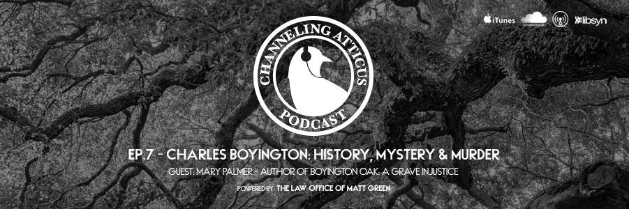 Boyington Oak Story on Channeling Atticus