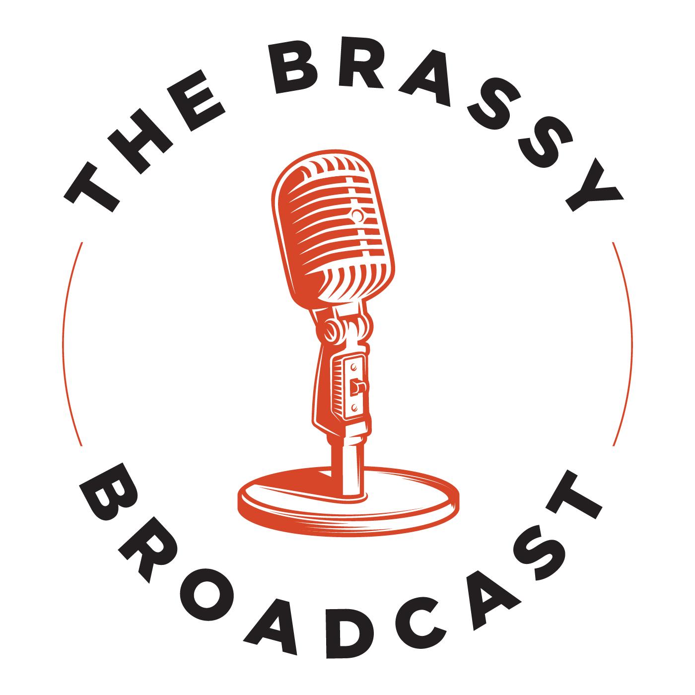 The Brassy Broadcast with Jen Edds show art