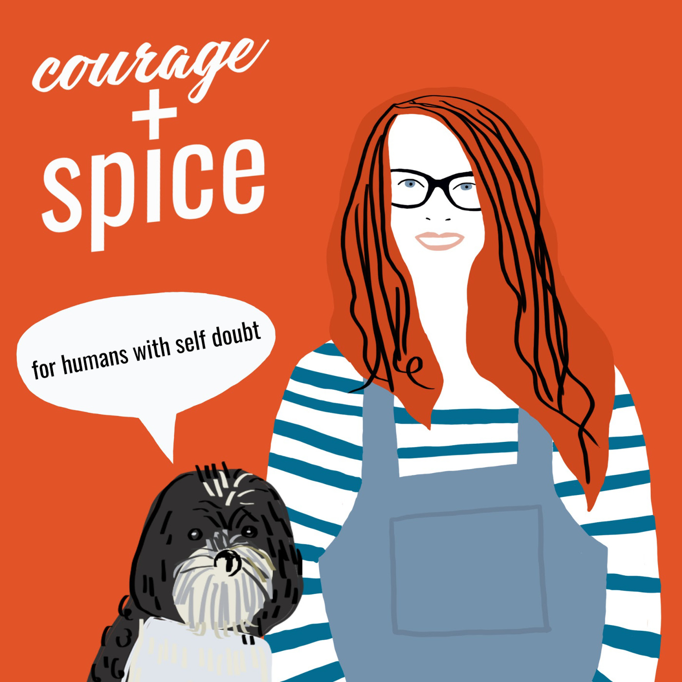 Courage & Spice: the podcast for humans with Self-doubt show art
