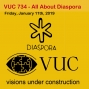 Artwork for VUC734 - All About Diaspora