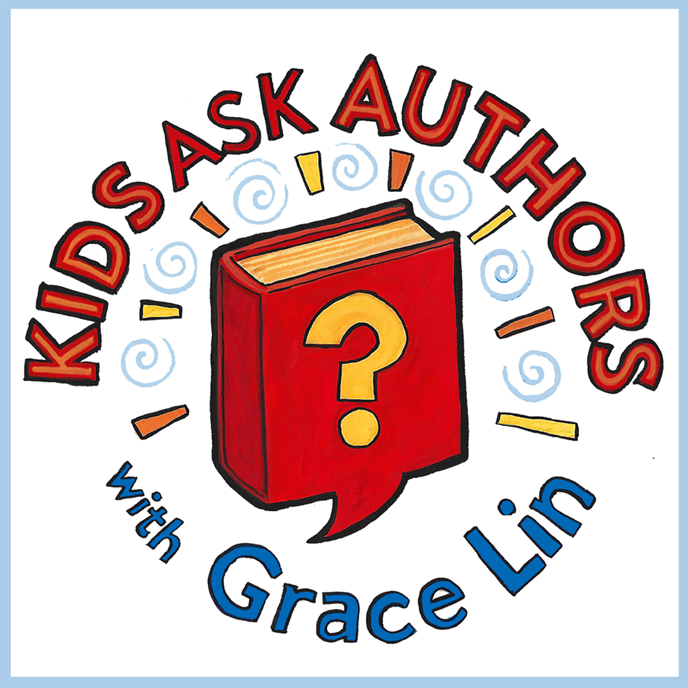 Kids Ask Authors podcast show art