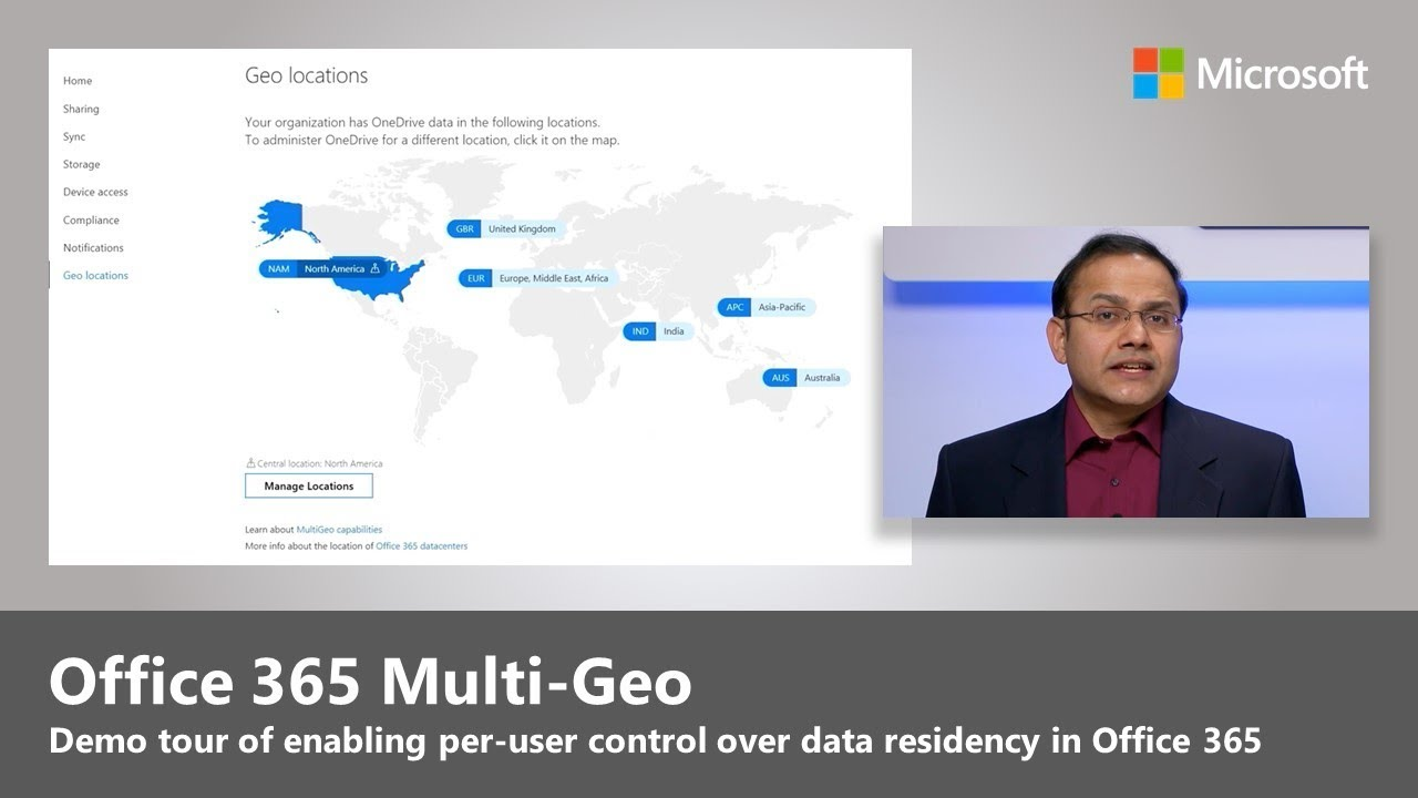 Artwork for Introducing Office 365 Multi-Geo, giving you control over where your data is stored