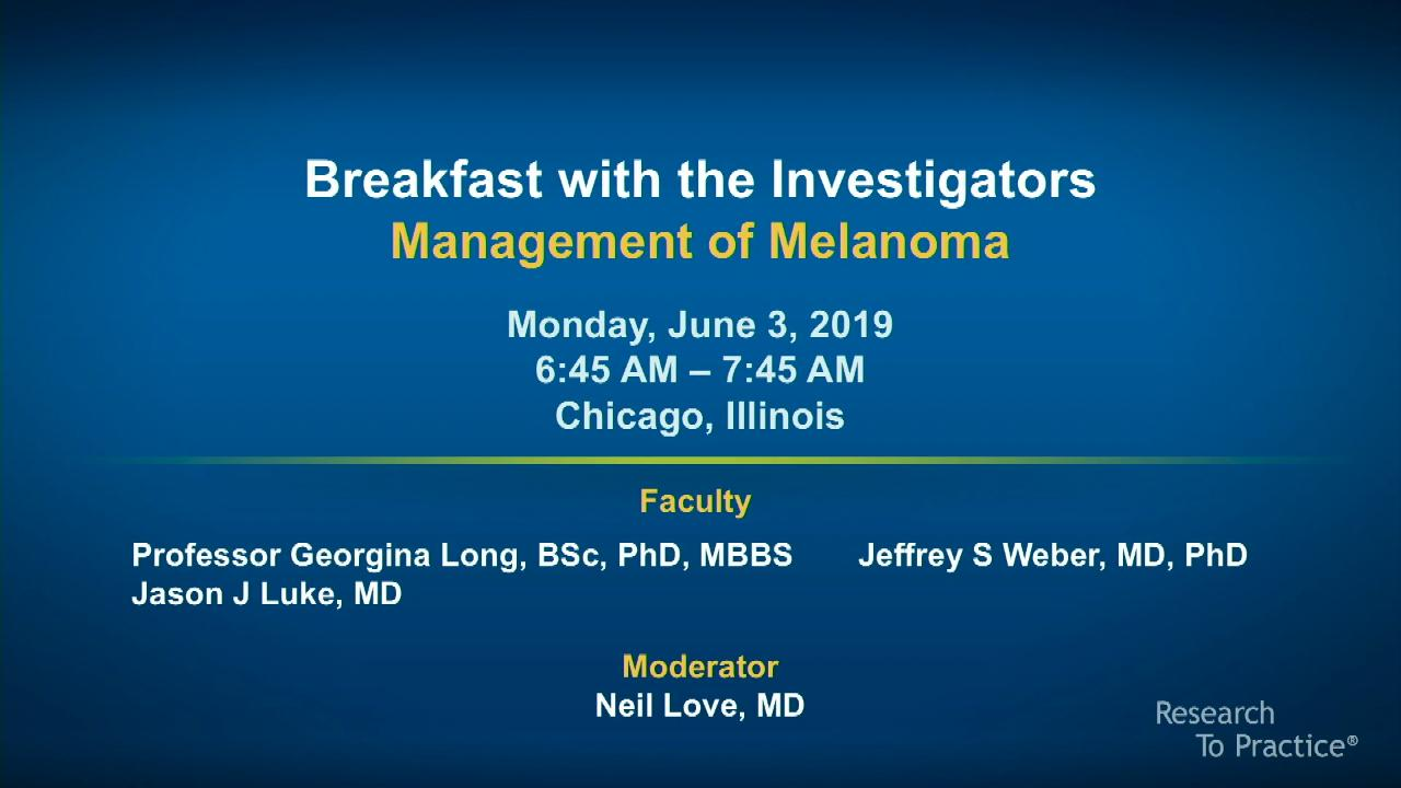 Artwork for Melanoma | Breakfast with the Investigators: Management of Melanoma
