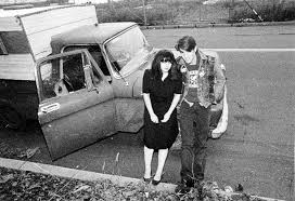 Lydia Lunch, Marty Nation and Marty's brown 1958 Ford brown pickup