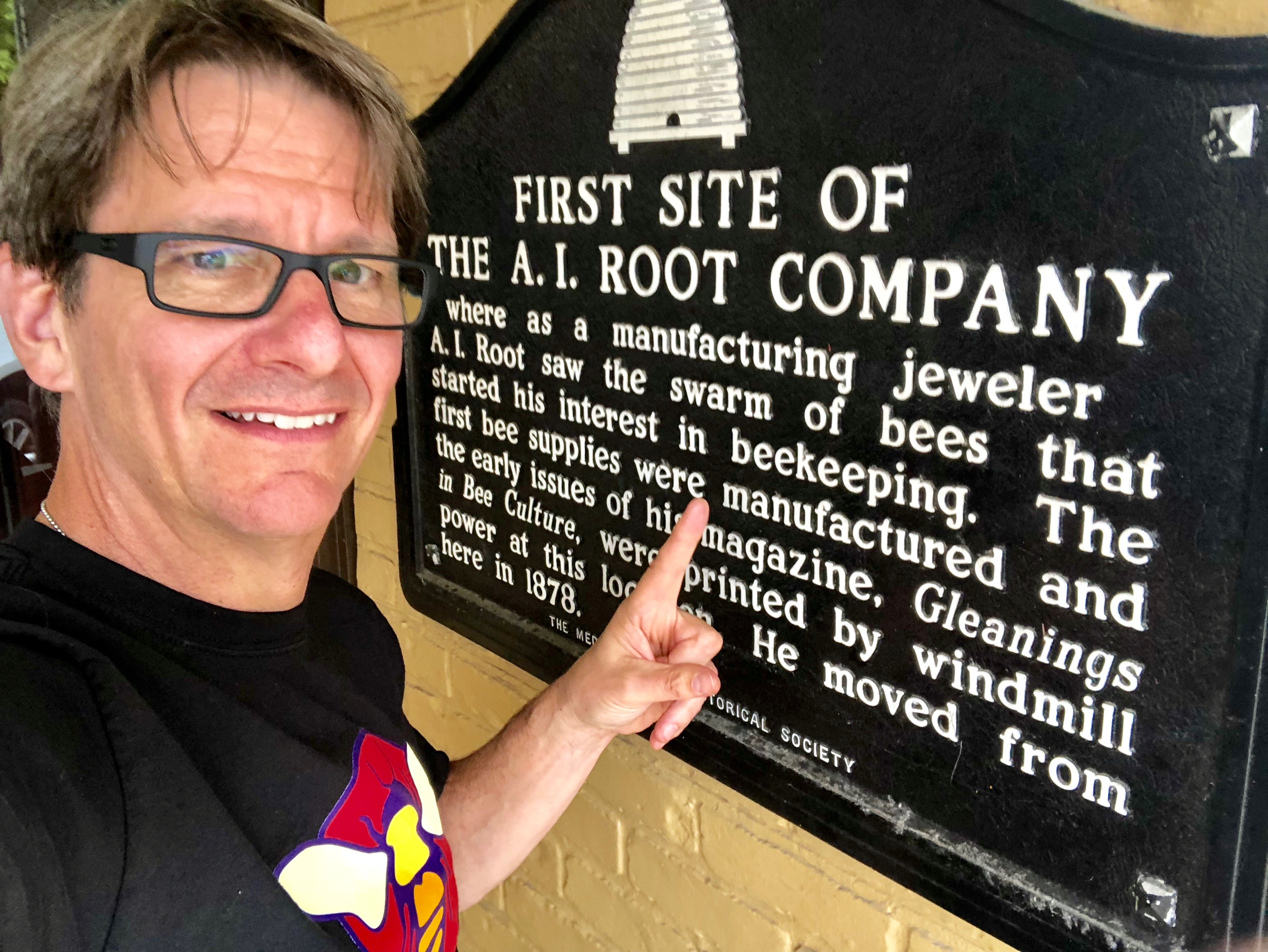 Jeff Visiting A.I. Root History in Medina, OH