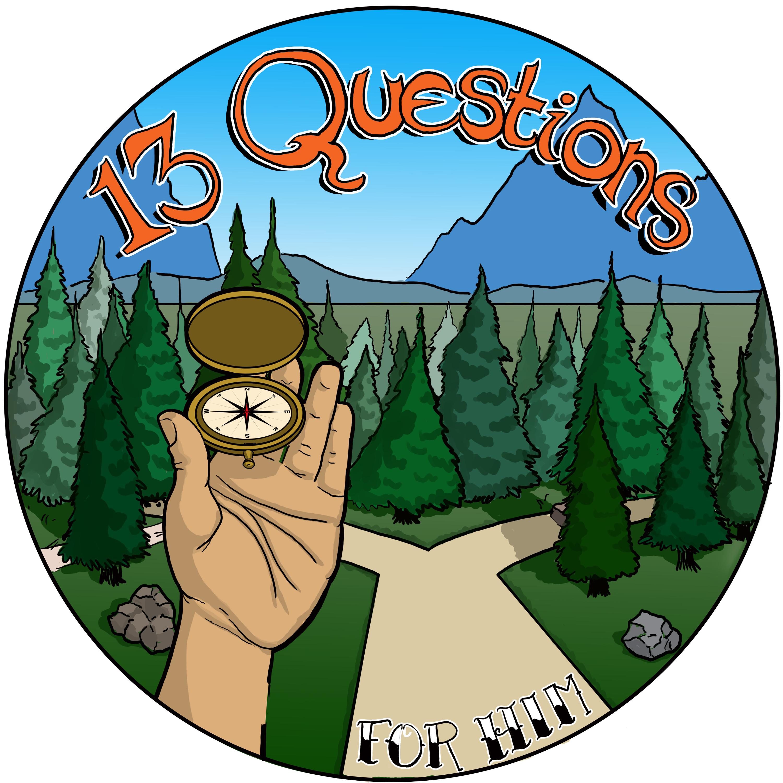 13 Questions podcast show art