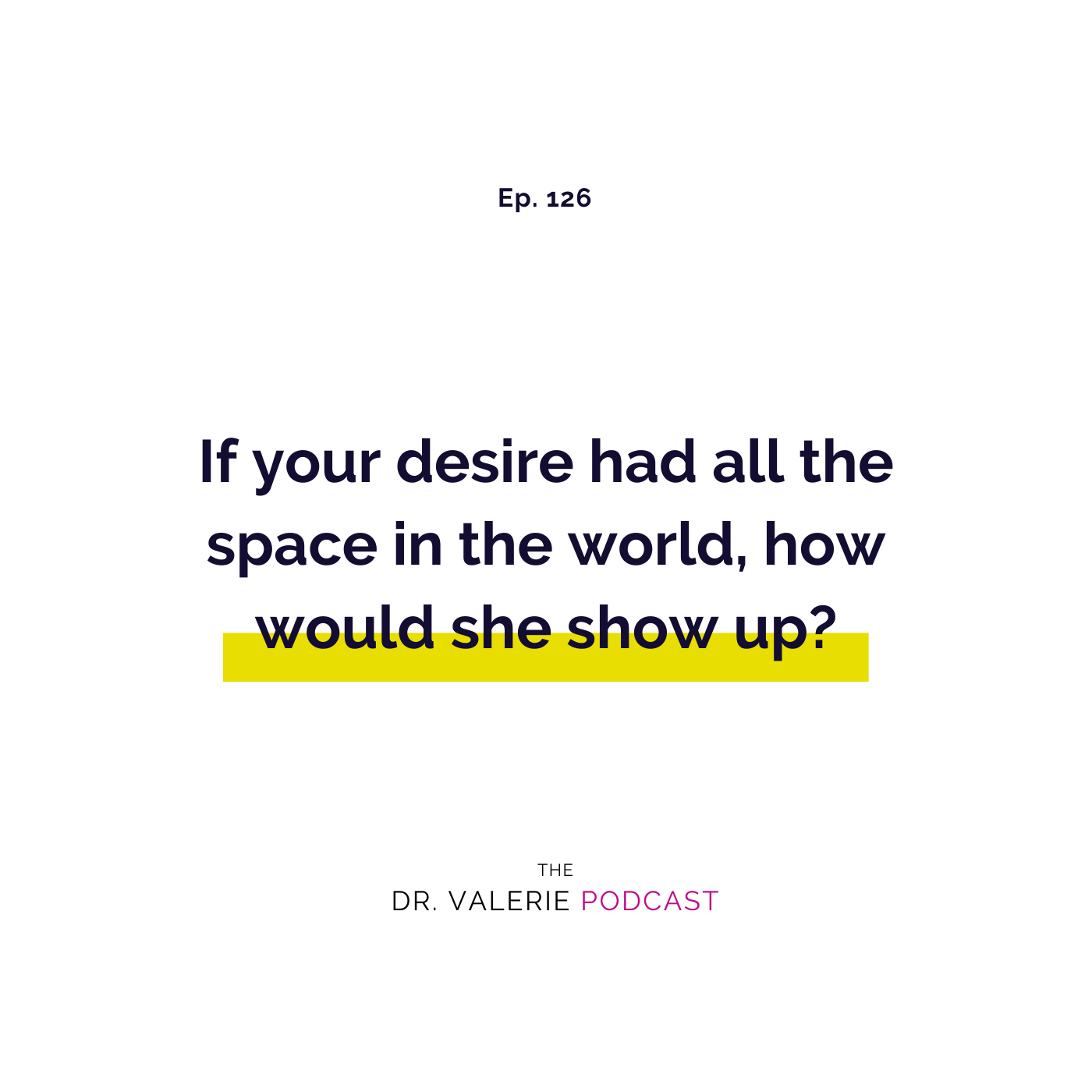 Ep 126 - All The Space in the World
