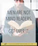 Artwork for Men Can't Read Minds...Get Over It