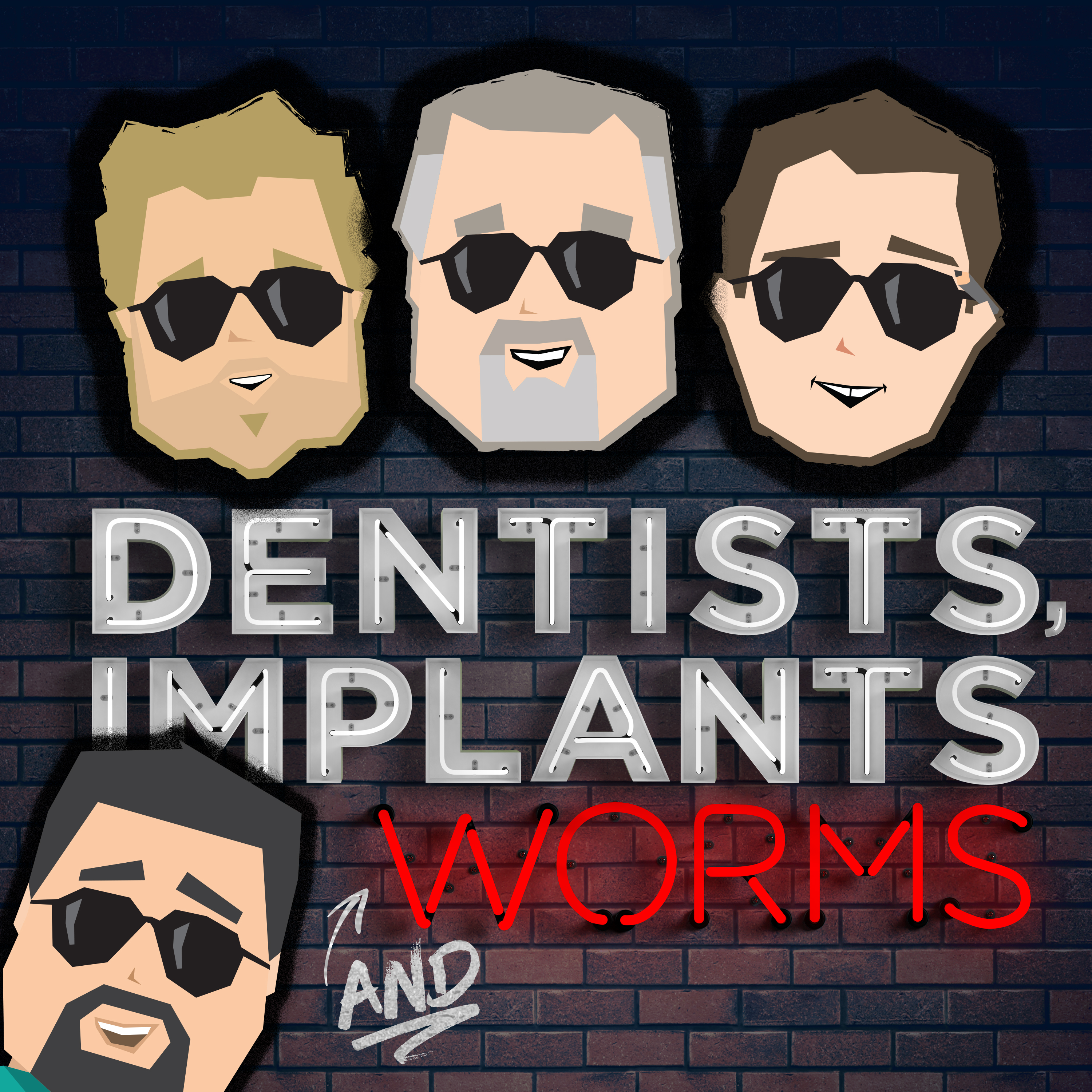 Dentists, Implants and Worms show art