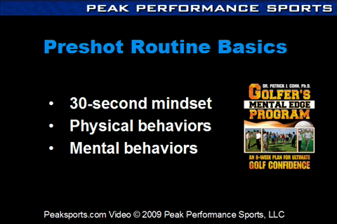 Artwork for Golf Psychology: Three Preshot Mental Strategies You Must Have in Your Routine