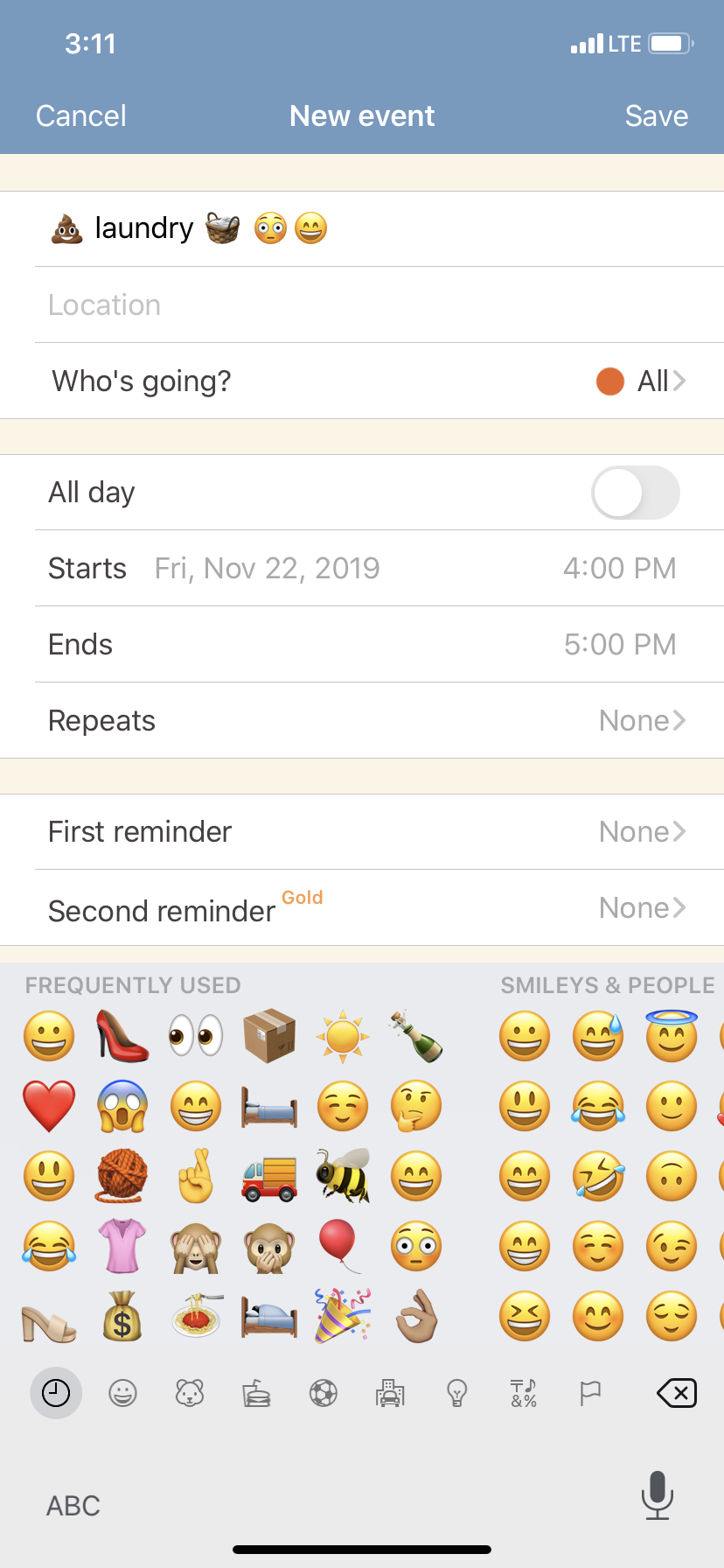 scheduling with funny emojis