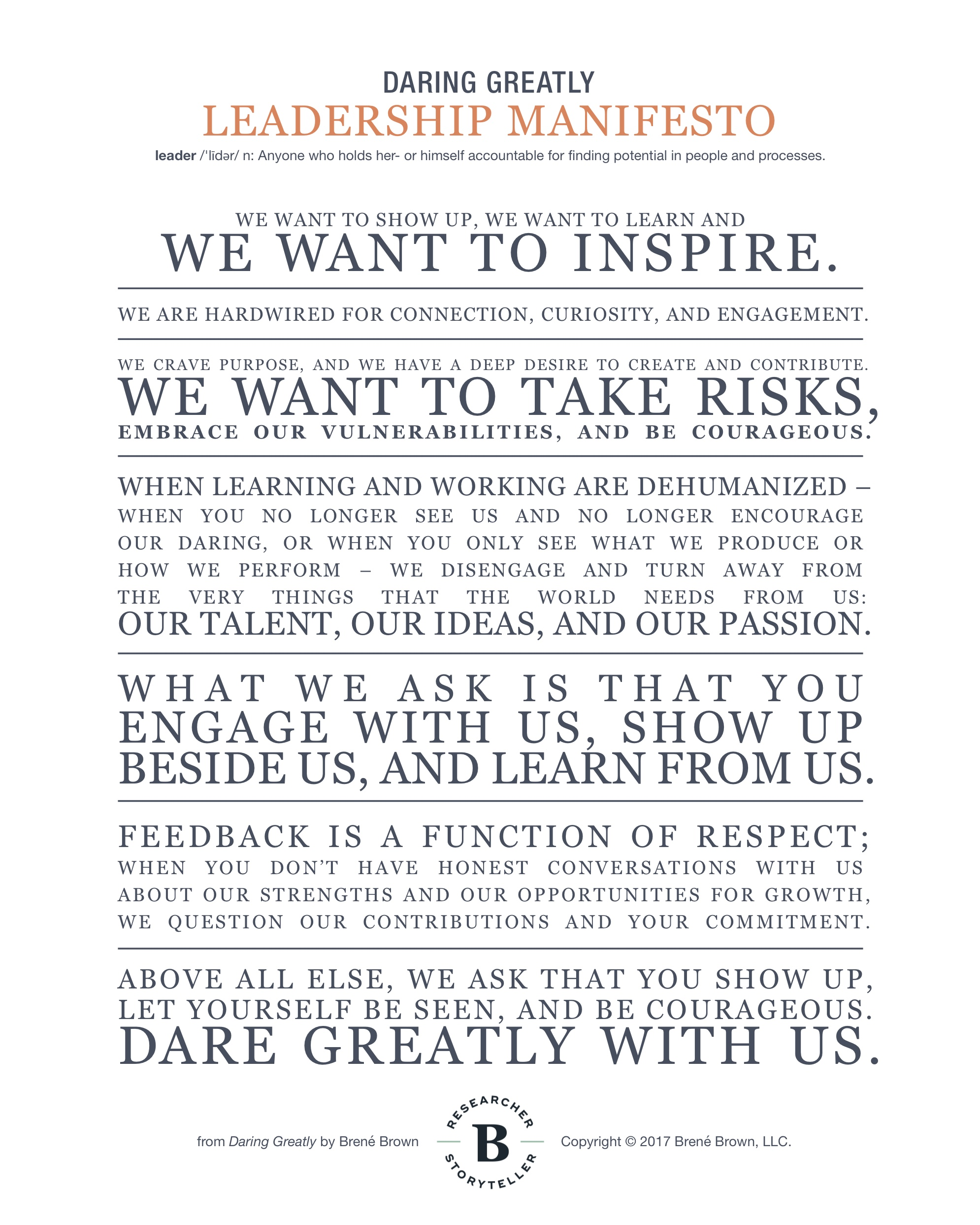 Brene Brown Manifesto