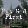 Artwork for Put God First
