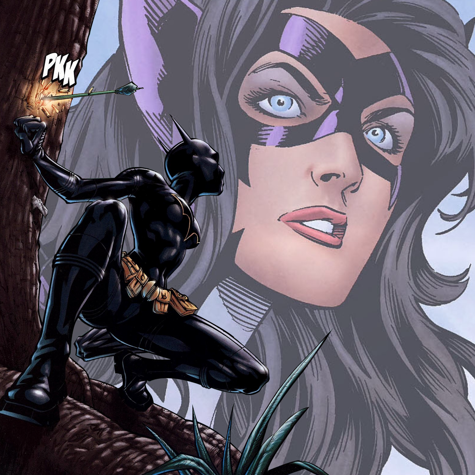 The Batgirl/Huntress Podcast show art