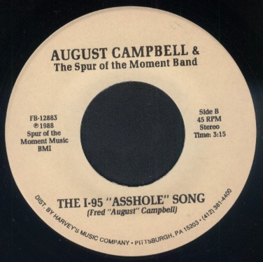 "SONG SNATCH #109- ""I-95 Asshole Song"" by August Campbell & The Spur Of The Moment Band"