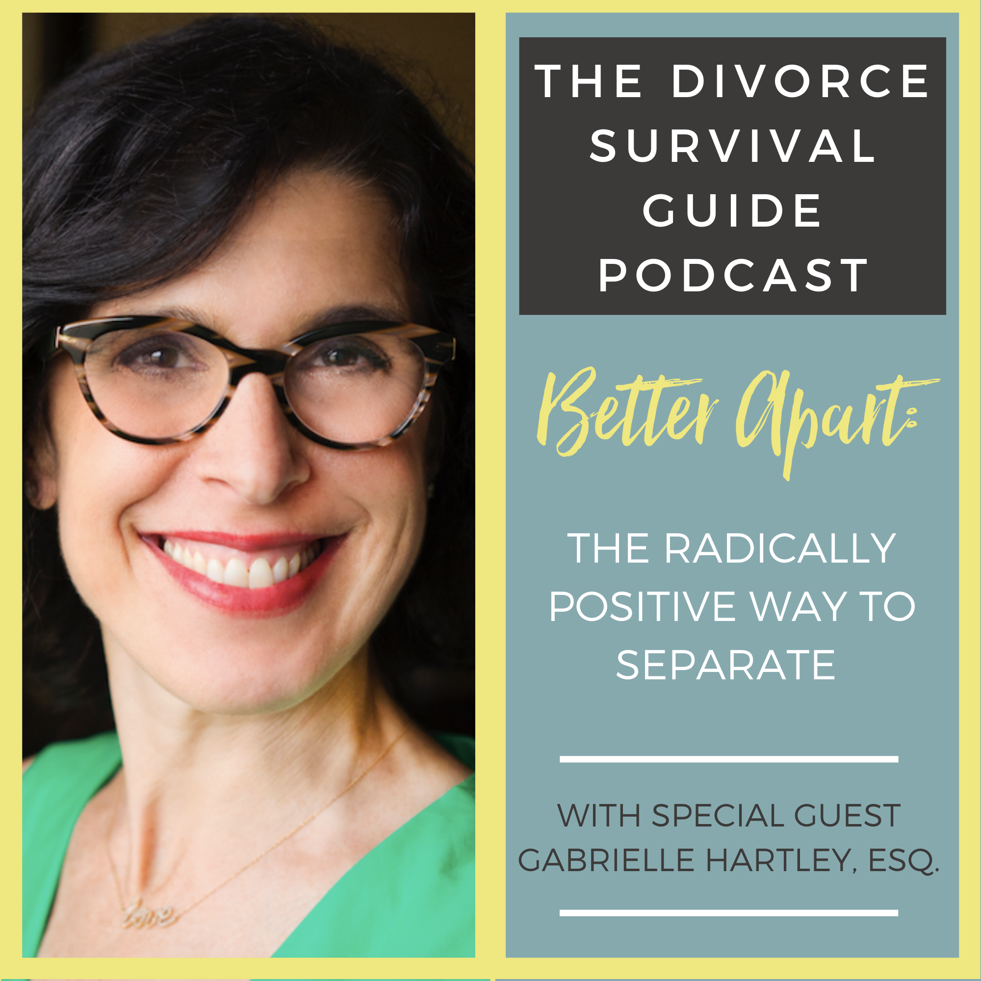The Divorce Survival Guide Podcast - Better Apart: The Radically Positive Way to Separate with Gabrielle Hartley, Esq.