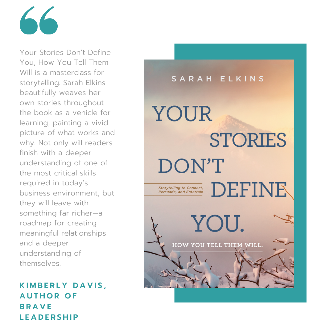 Your Stories Don't Define You book cover and quote