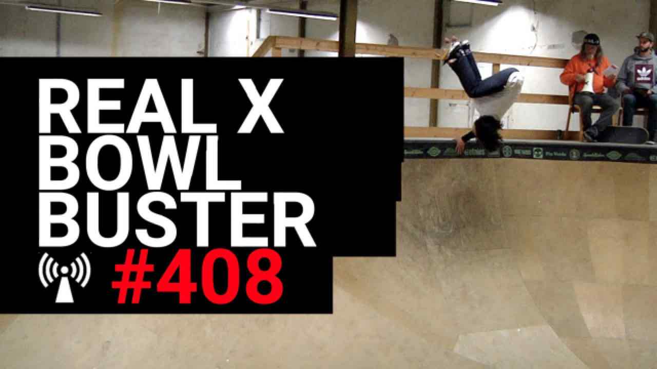 Artwork for Real X Bowlbuster Skateboard wedstrijd