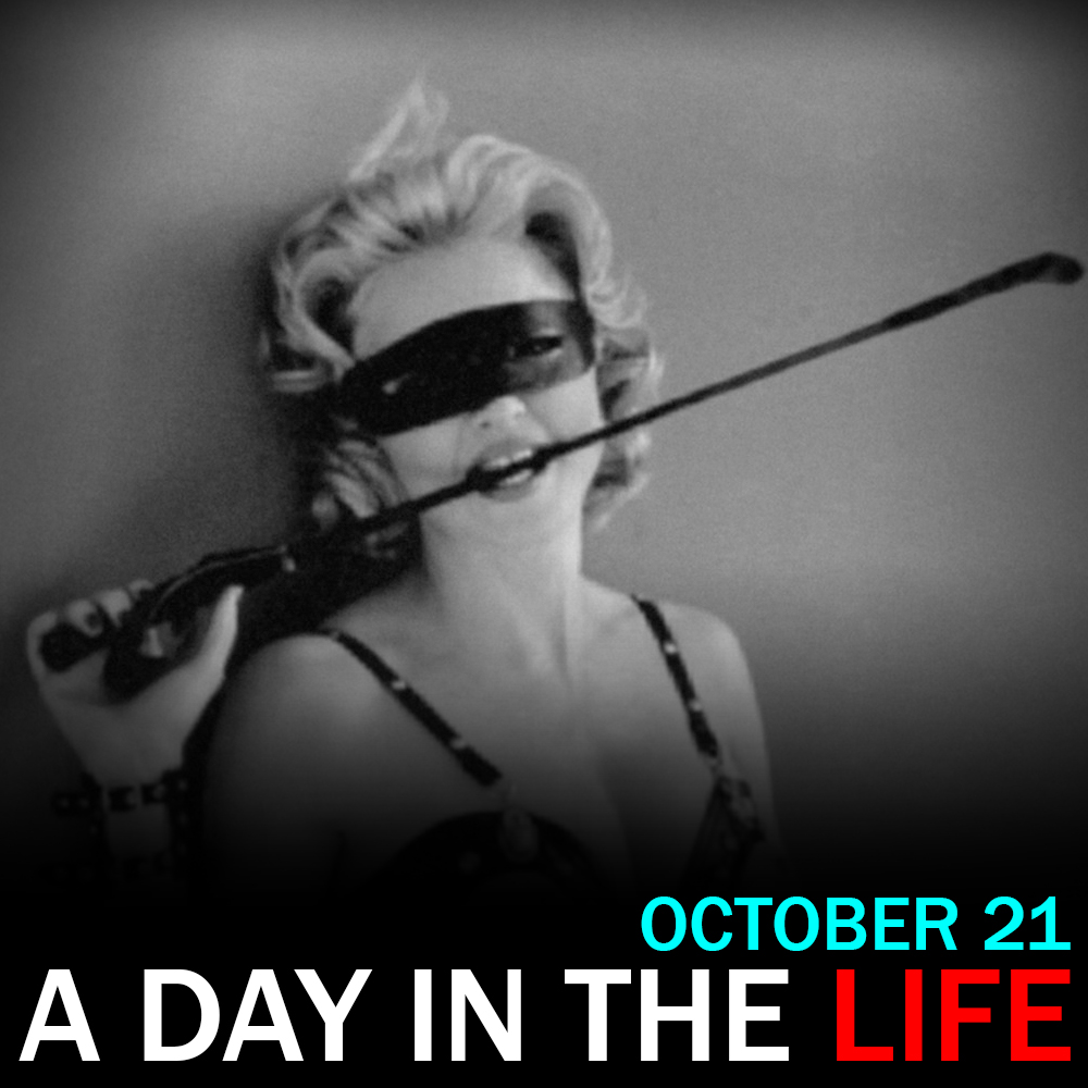 """Artwork for Madonna Releases """"Sex"""": """"A Day in the Life"""" for October 21, 2016"""