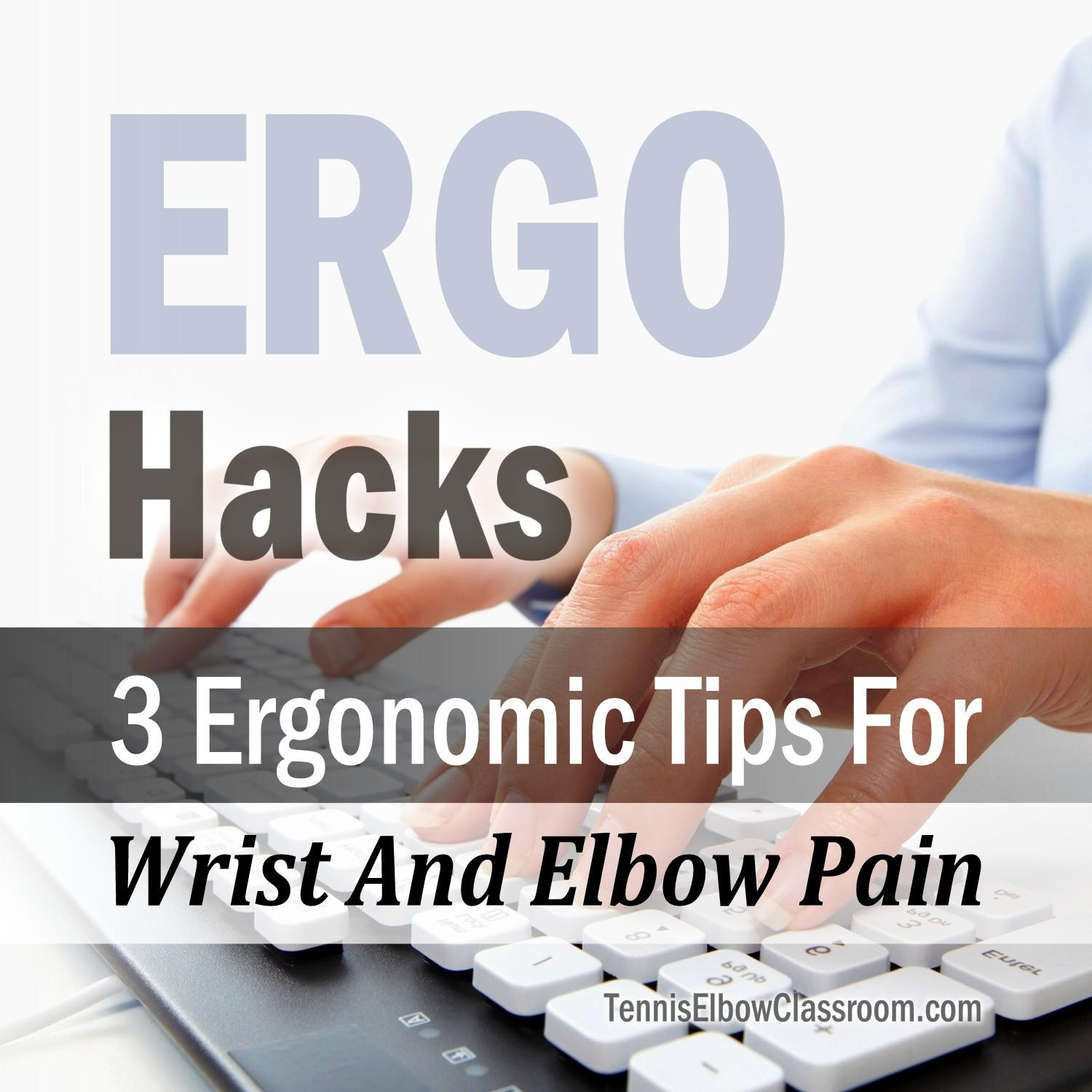 3 Key Ergo Tips For Computer Pain Podcast Cover Art
