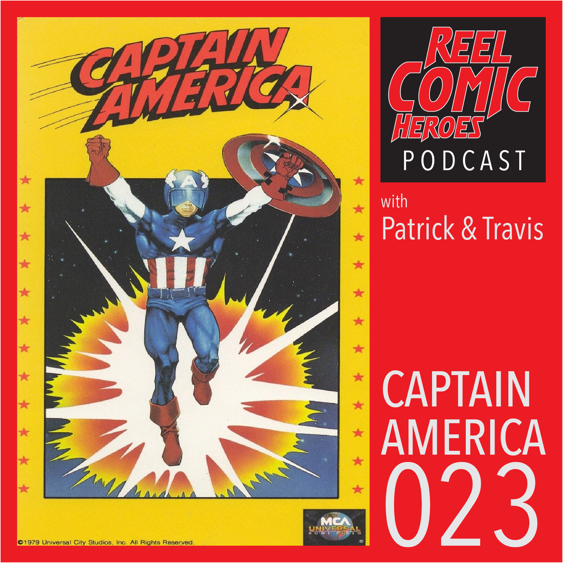 Artwork for Reel Comic Heroes 023 - Captain America (1979)