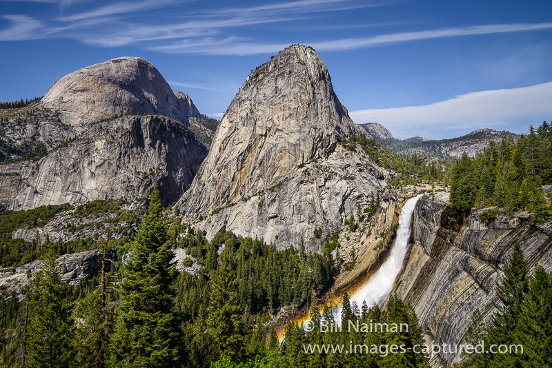Nevada Fall from John Muir Trail by Bill Naiman