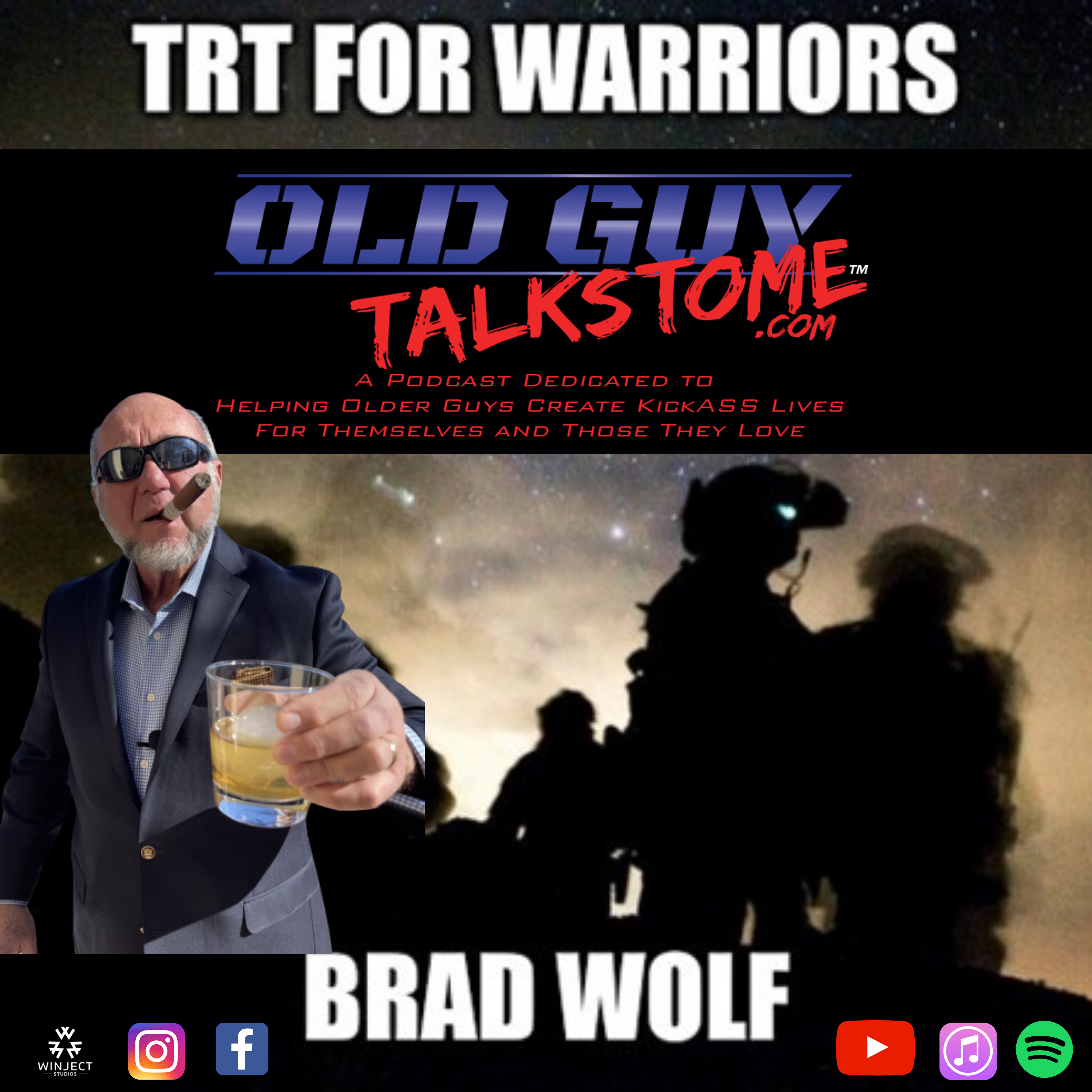 OldGuyTalksToMe - 86.  Testosterone Therapy and TBIs with Brad Wolf