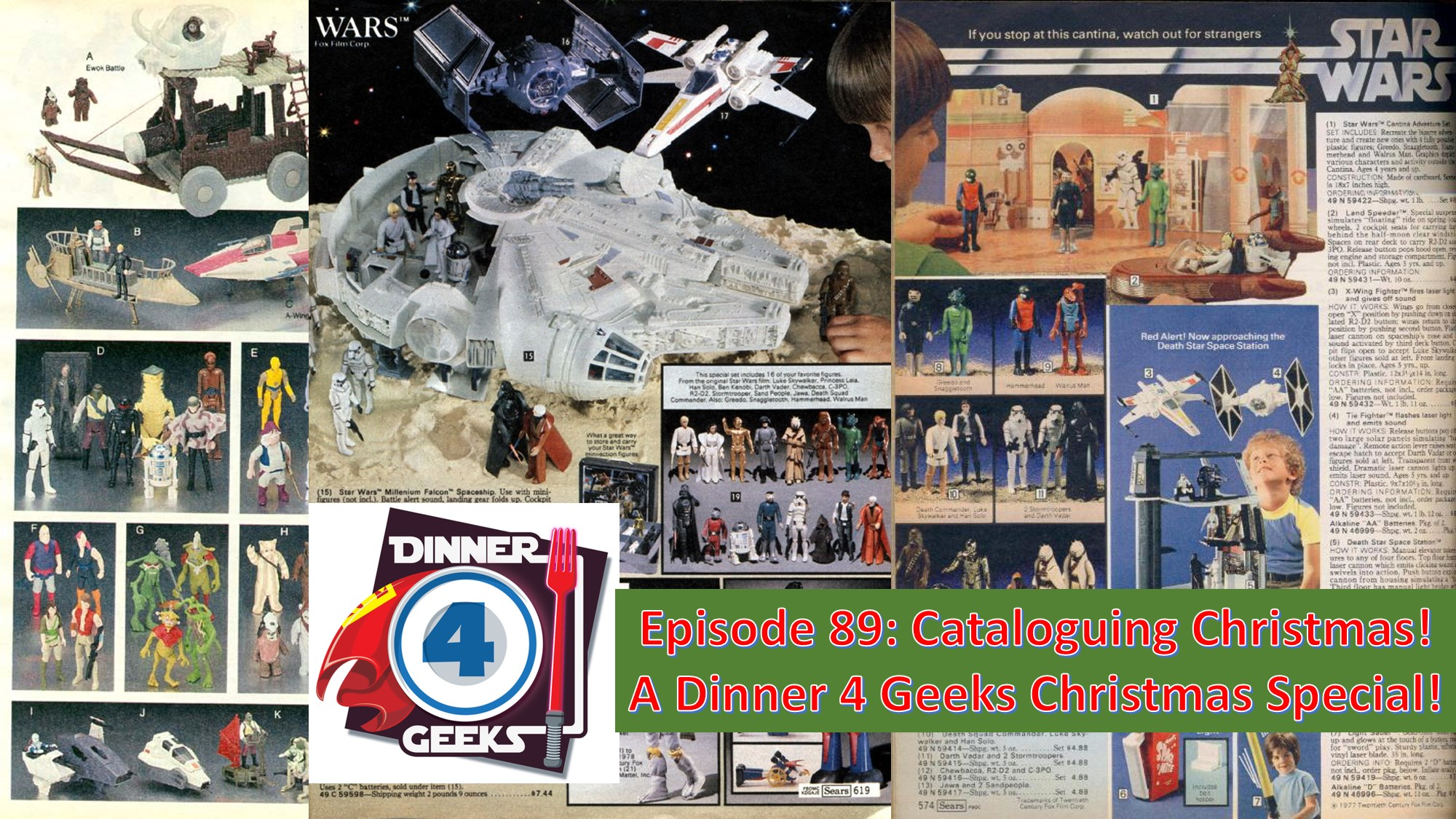 Episode 89: Cataloguing Christmas! A DInner 4 Geeks Christmas Special!