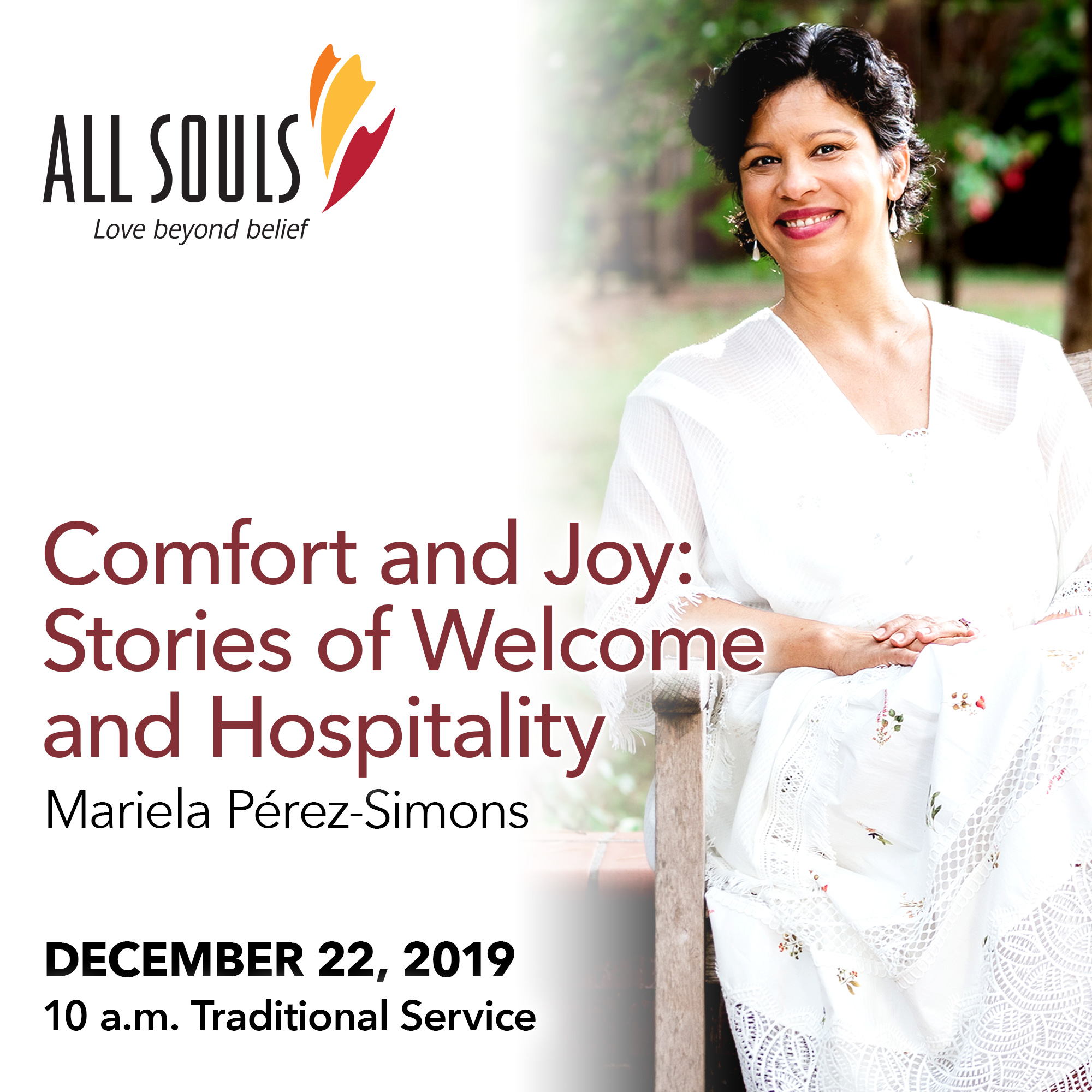 'COMFORT AND JOY: STORIES OF WELCOME AND HOSPITALITY' - A sermon by Mariela Pérez-Simons (Traditional Service) show art