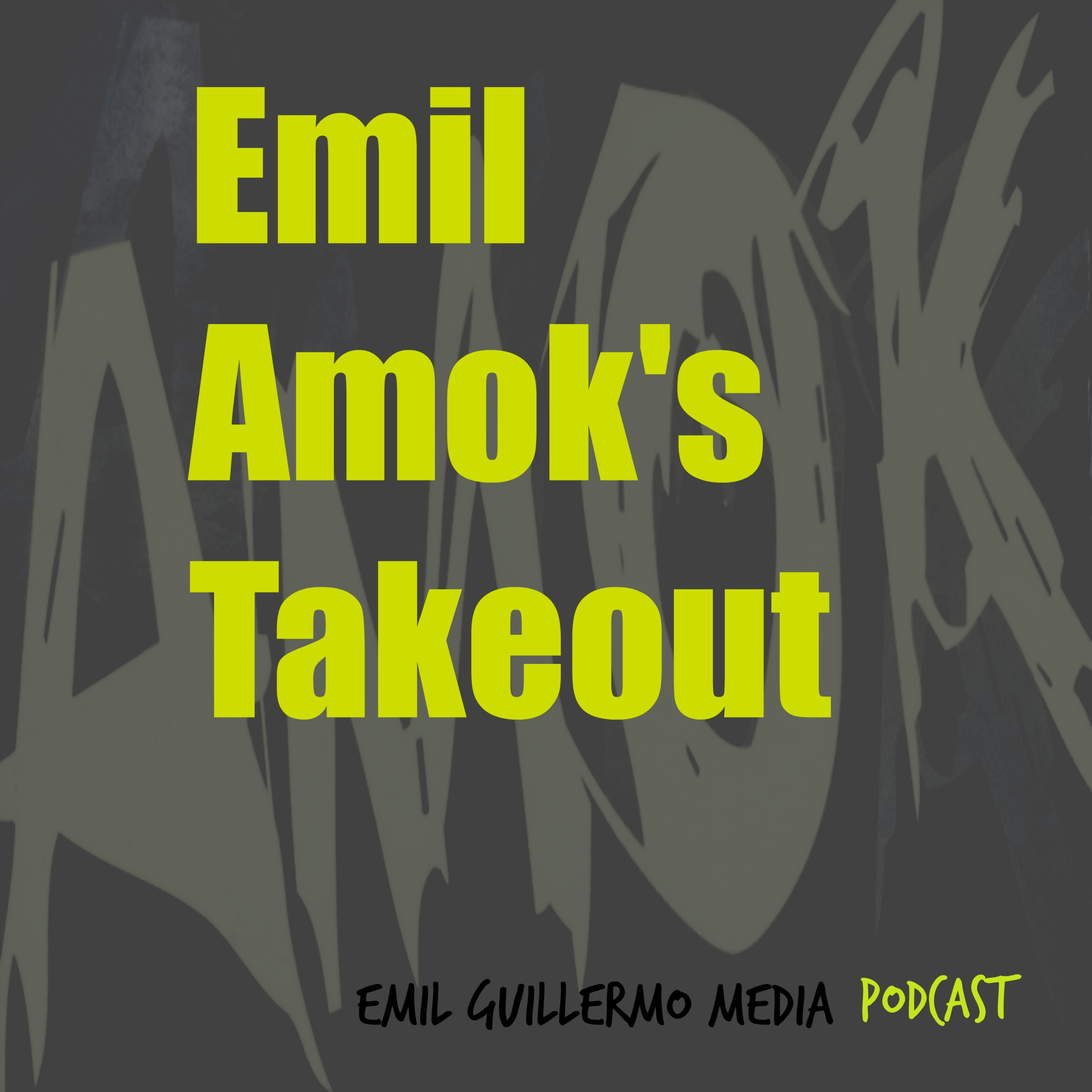 Emil Amok's Takeout from Emil Guillermo Media logo