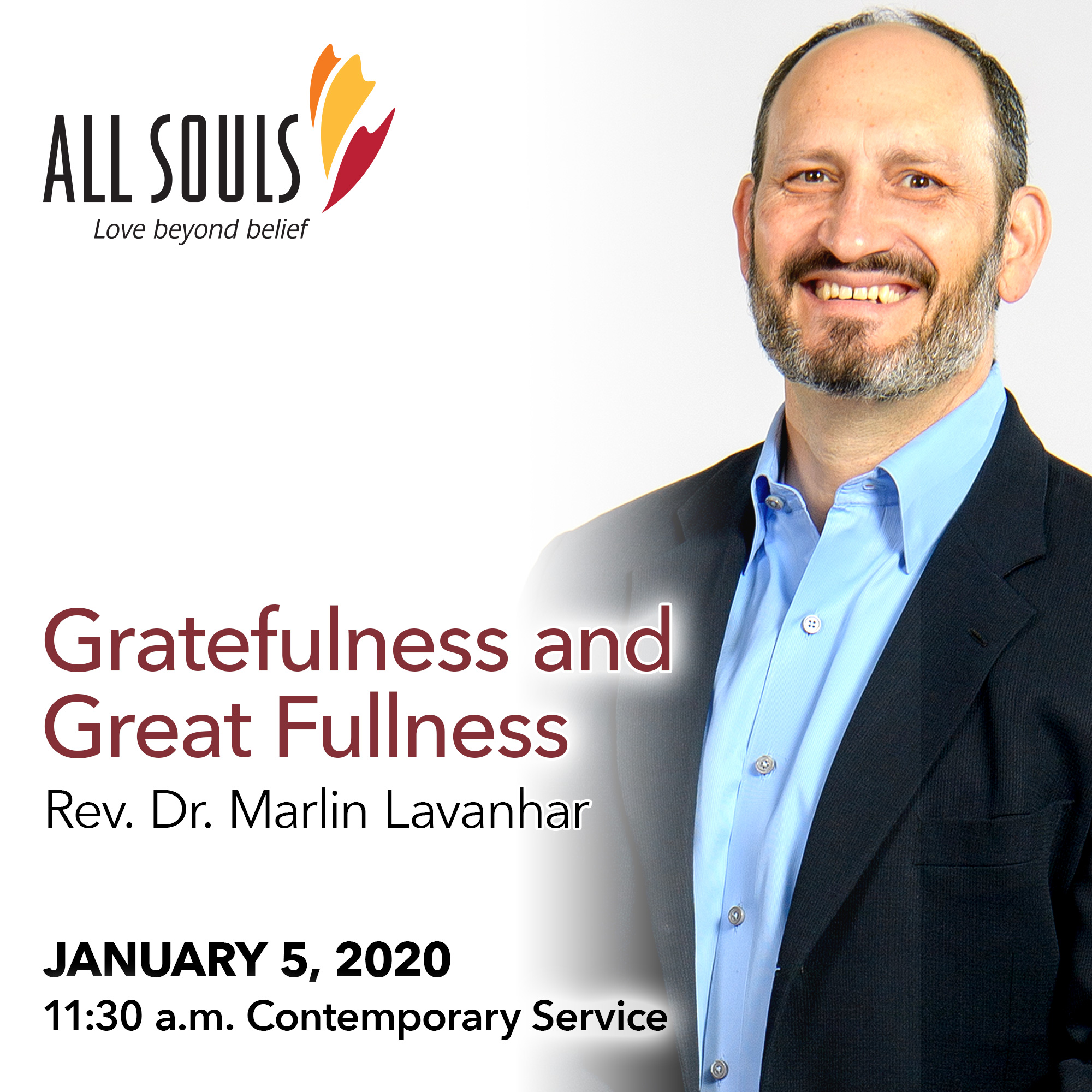 'GRATEFULNESS AND GREAT FULLNESS' - A sermon by Rev. Dr. Marlin Lavanhar (Contemporary Service) show art