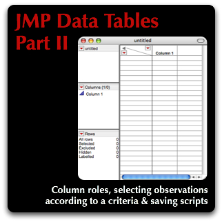 JMP Data Tables Part II