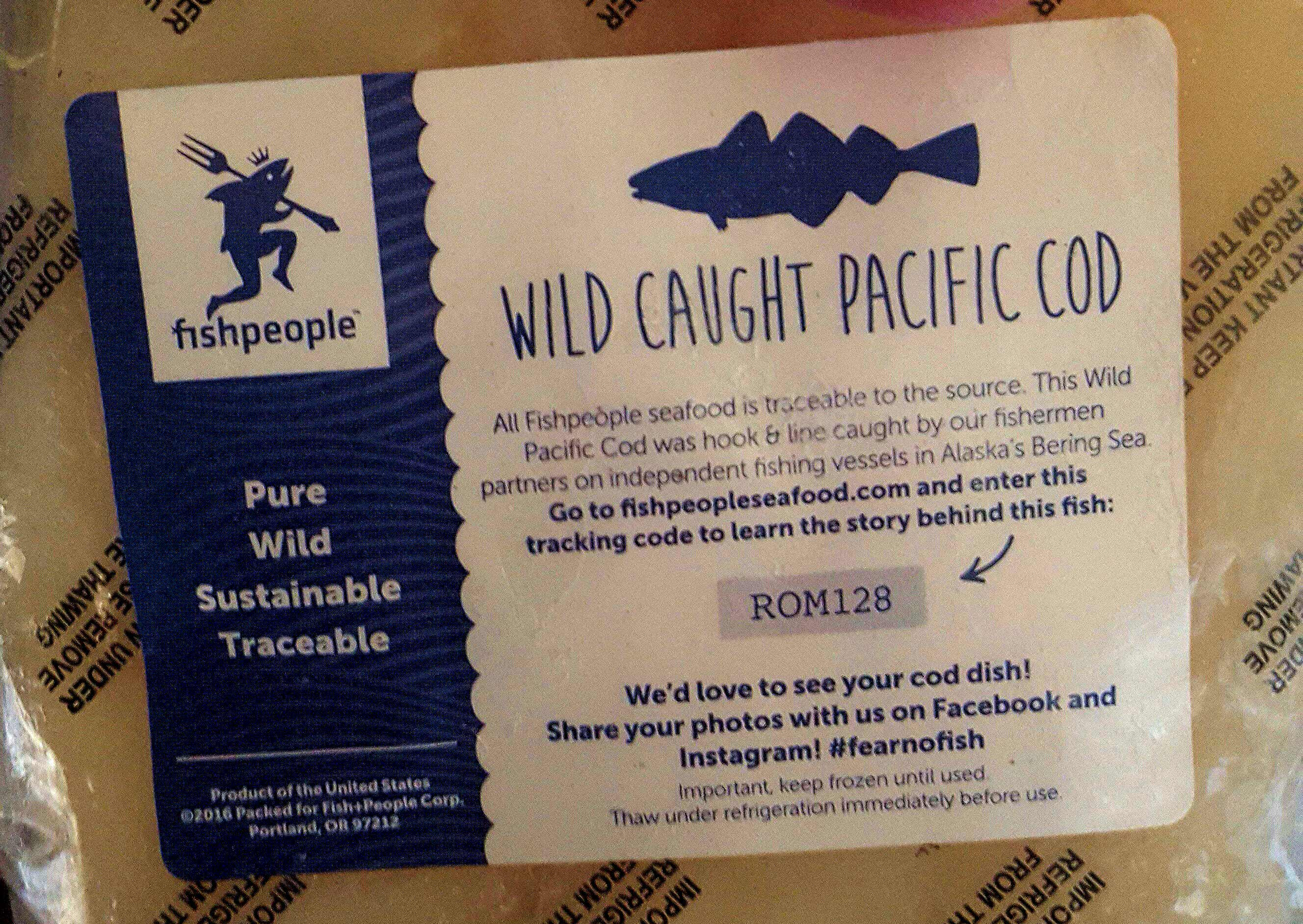FishPeople Seafood Pacific Cod Included in the Sun Basket Meal Kit