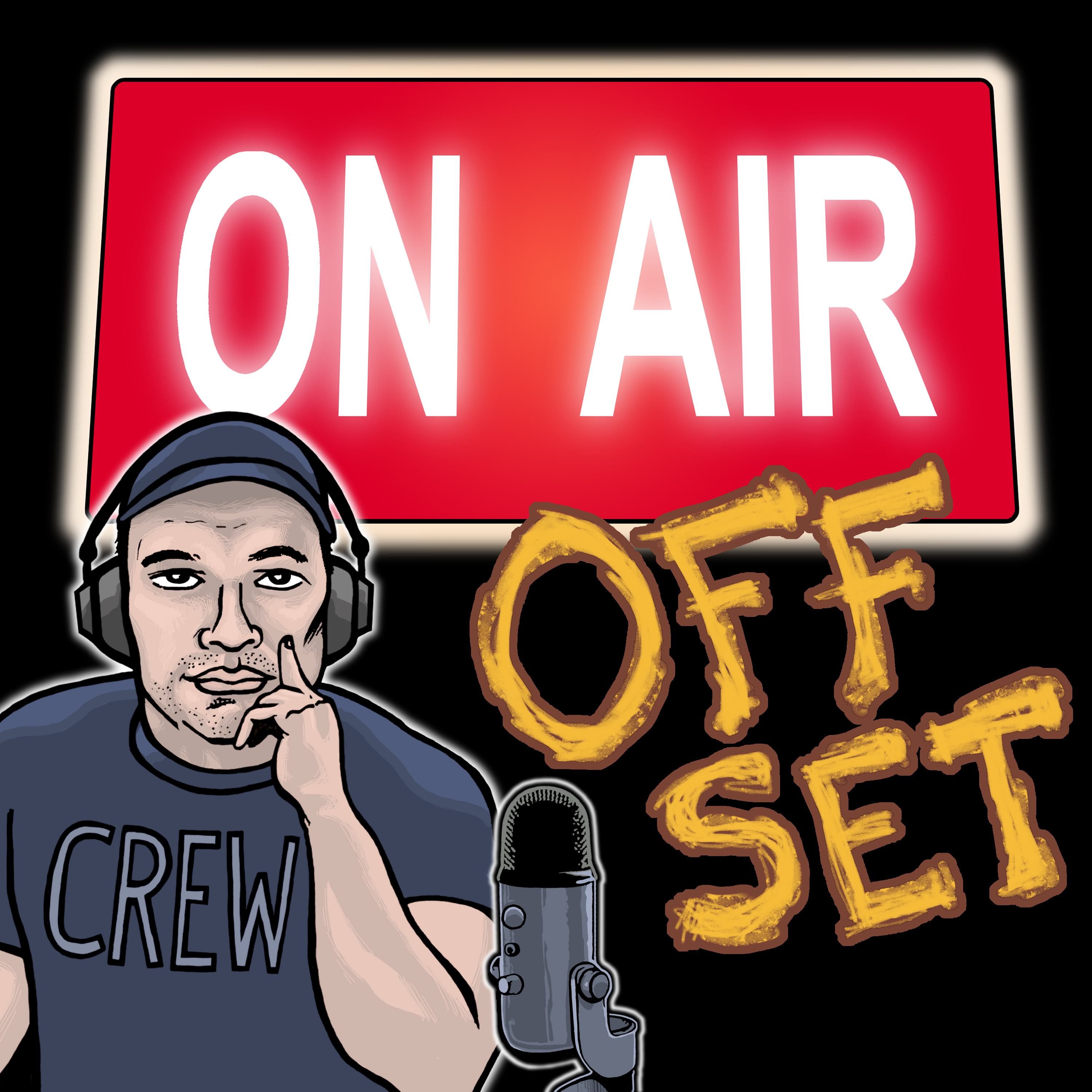 On Air Off Set podcast show art